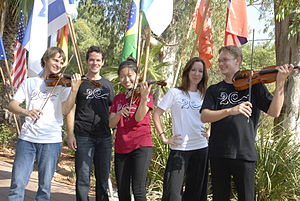 Keshet Eilon - Violin students, participants of 2010 Keshet Eilon summer mastercourse
