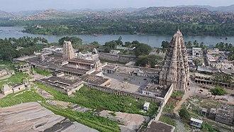 Virupaksha Temple, Hampi - The Virupaksha or the Pampapathi temple