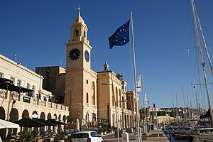 Malta Maritime Museum - The Malta Maritime Museum as viewed from the Birgu waterfront