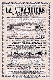 <i>La Vivandière</i> (Gilbert) musical