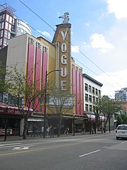 The Vogue Theatre on Granville Street.