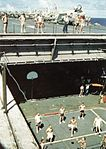 Volleyball game on USS Bon Homme Richard (CVa-31) c1965.jpg