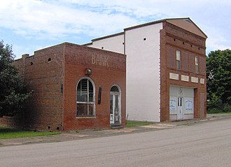 Vonore, Tennessee - Old bank building and Order of the Eastern Star lodge in Vonore