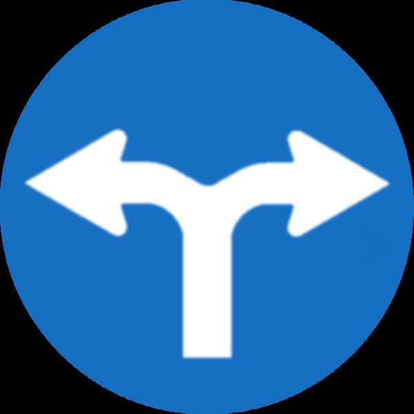 File:Vorgeschriebene Fahrtrichtung (Links oder Rechts).png