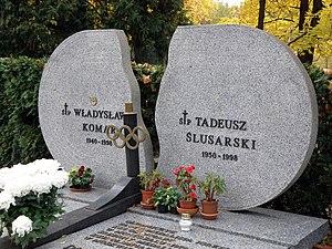 Władysław Komar - Grave of Władysław Komar and Tadeusz Ślusarski in Warsaw.