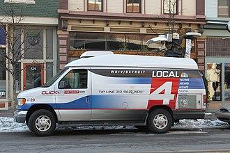 WDIV-TV - WDIV-TV Local 4 News remote van.