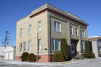 National Register of Historic Places listings in Dodge County, Wisconsin - Image: WH Boller Meat Market And Residence Lomira Wisconsin
