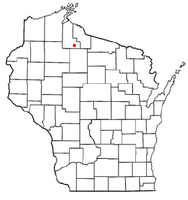 Location of Butternut, Wisconsin