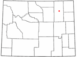 Location of Gillette, Wyoming