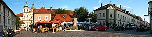 Waldsassen - Market square and basilica