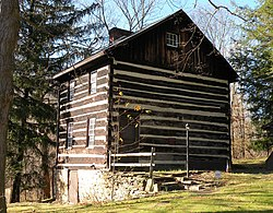Walker-Ewing Log House, built around 1790.