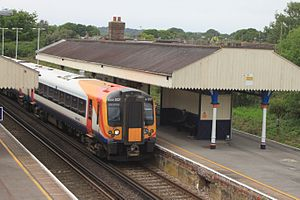 Wareham railway station - Image: Wareham SWT 444007 up service