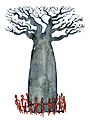 Watercolor-baobab-tree-with-people-group-painting-by-frits-ahlefeldt.jpg