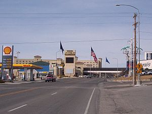 Interstate 80 Business (West Wendover, Nevada–Wendover, Utah) - Image: Wendover Blvd at Aria Blvd