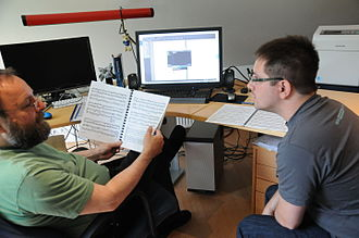 MuseScore - Werner Schweer and Nicolas Froment working on MuseScore 2.0