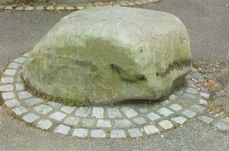 Westhoughton - Stone from which John Wesley is said to have preached