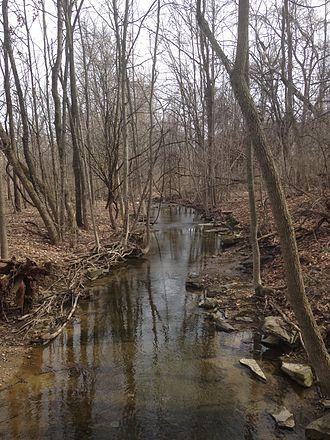 Jackson Creek (Monroe County, Indiana) - West Branch Jackson Creek alongside Renwick Trail, Bloomington, IN USA