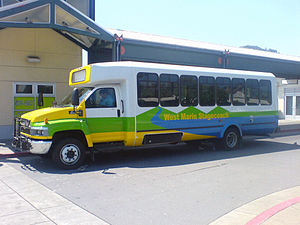 Marin Transit - A West Marin Stagecoach bus operating on Route 68 at the San Rafael Transit Center.
