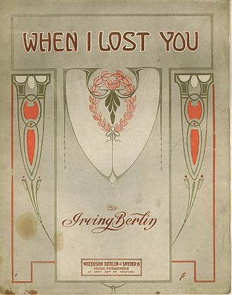 When I Lost You - Cover page to the sheet music.