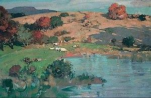 James Whitelaw Hamilton - Cattle Grazing in a Meadow, c1910