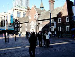 The Elizabethan Whitgift Almshouses in the centre of Croydon