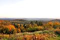 Widok spod przełęczy Przysłup na Park Krajobrazowy Gór Słonnych, Góry Sanocko-Turczańskie i Bieszczady.jpg
