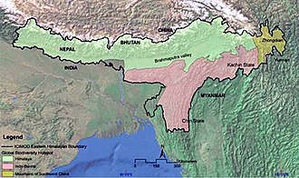Eastern Himalaya - Image: Wiki eastern himalayas
