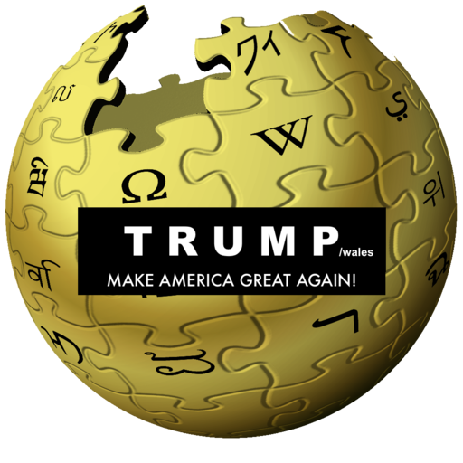 Wikipedia logo Trump