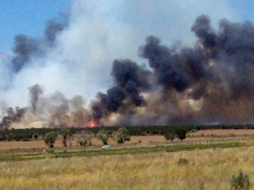 Wildfire near Cedar Fort, Utah