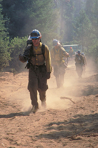 Interagency hotshot crew - Members of the Flathead IHC