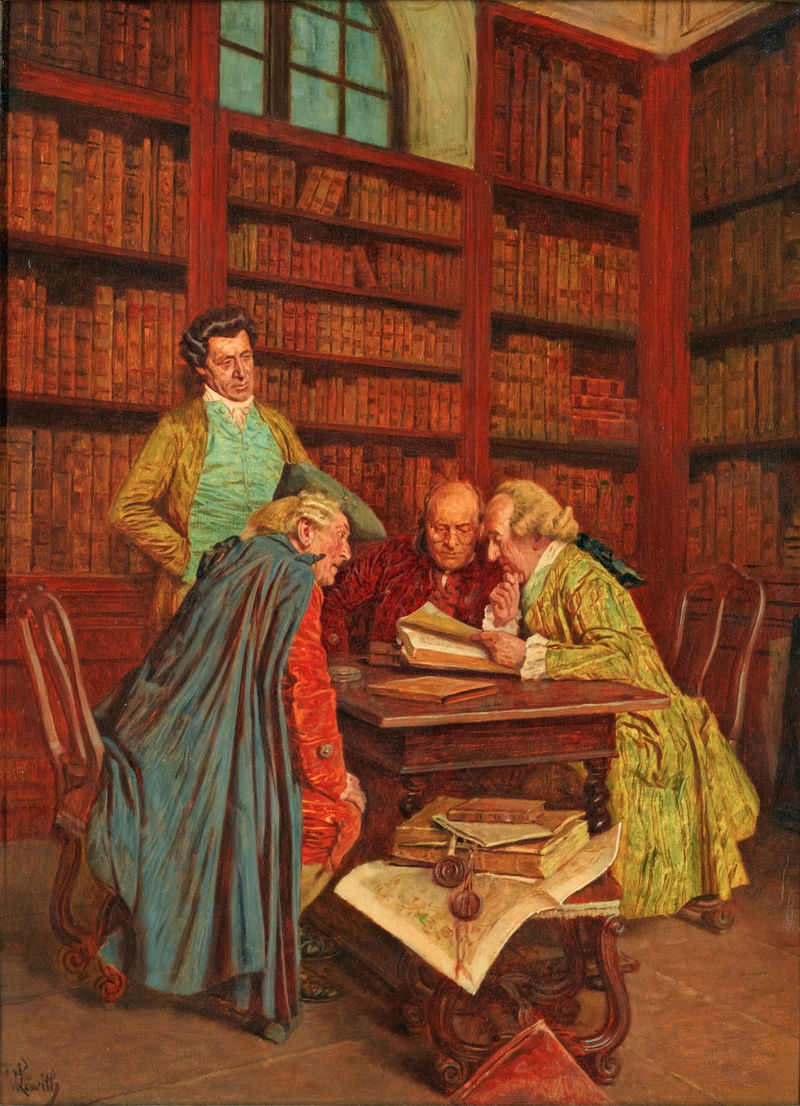 Wilhelm Löwith – The Library.jpg