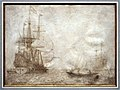 Willem van de velde I, nave da guerra in mare con barca a remi sullo sfondo e altre imbarcazioni, 1640-45 ca.jpg