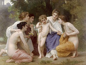 San Antonio Museum of Art -  A William-Adolphe Bouguereau (1825-1905) painting on display entitled Admiration (1897).