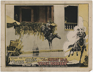 """Wonder horses - Image: William Fox presents Tom mix in """"The Great K&A Train Robbery"""" with Tony Wonder Horse. A crash a shriek and he plunged over the sandy precipice"""