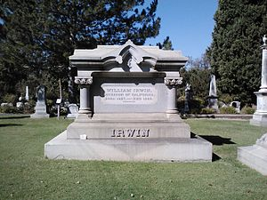 William Irwin (California politician) - Image: William Irwin Grave