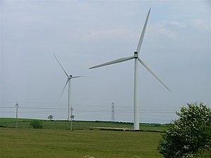 Elwick, County Durham - The wind turbines