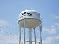 Winona water tower