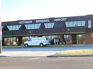 Wittman Regional Airport - Airport terminal, December 2006