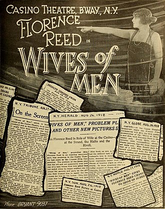 Florence Reed - Wives of Men (1918)