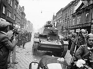 Český Těšín - Polish Army entering Český Těšín (Czeski Cieszyn) in October 1938