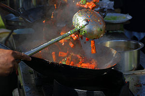 Stir frying (爆 bào) is a Chinese cooking techn...