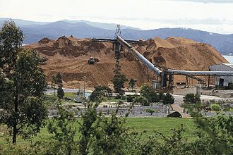 Eden, New South Wales - Image: Woodchips for export in New South Wales
