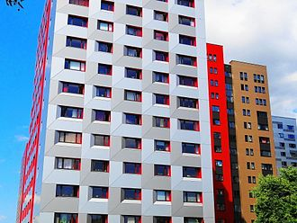Plattenbau - Modernised Plattenbau in Dresden