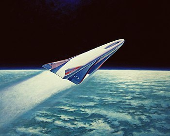 English: Artists concept of the X-30 aerospace...