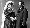 Xavier Prado Lameiro posa coa súa segunda esposa, Dolores Montes 1907.jpg