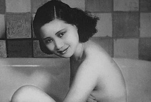 Xu Lai (actress) - Xu Lai in Remnants of Spring (1933), probably the earliest female bath scene in the history of Chinese cinema