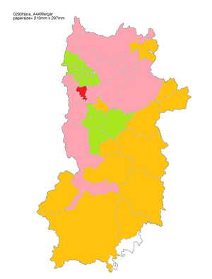 Yamatotakada, Nara - Image: Yamatotakada Map