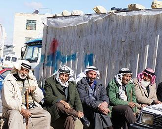 Yatta, Hebron - Elderly men in Yatta, 2012