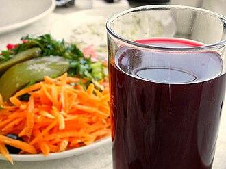 Şalgam - A glass of şalgam