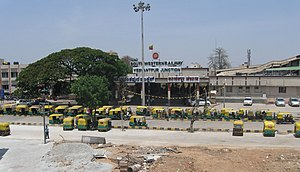 Yesvantpur Junction railway station - Entrance of Yeshwantapur Junction railway station (from Tumkur roadside)